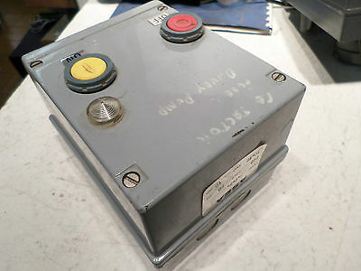 ASEA - DOL STARTER STOP/START 10HP 240ac Coils METAL ENCLOSURE w/Overload