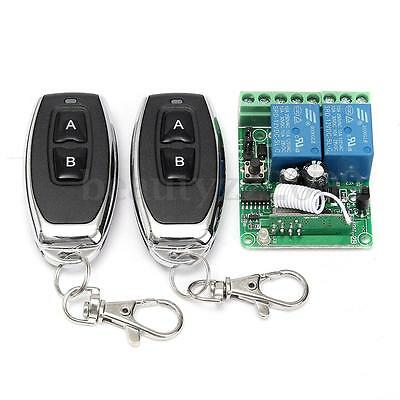 12V 10A 2 Channel Remote Control Switch Relay Wireless Transmitter+Receiver