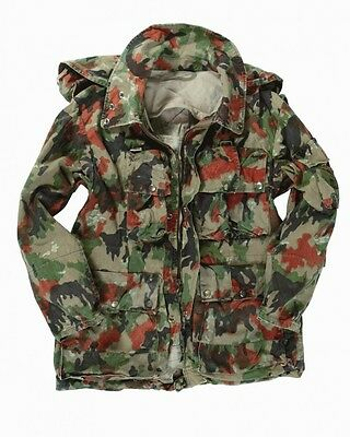 1960s Swiss army alpenflage camo parka jacket coat smock sniper military hooded