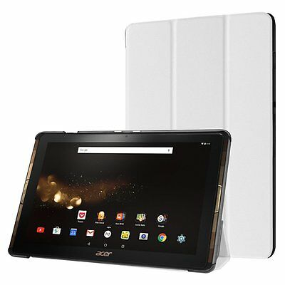 Housse Coque Etui PU cuir Blanc pour Acer Iconia Tab 10 A3-A40 B3-A30 Tablette