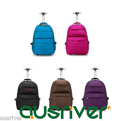 5 Colours Multifunctional Wheeled Luggage Backpack Carry On Travel Bag Trolley