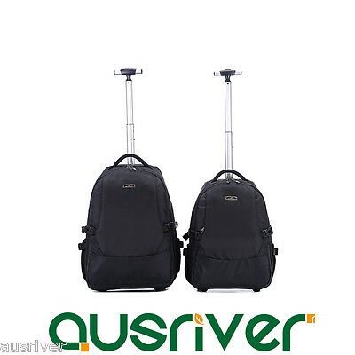 Durable Wheeled Luggage Backpack Carry On Travel Laptop Bag Trolley Traveller