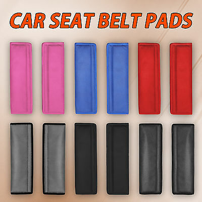 2 X Car Seat Belt Pad Harness Safety Shoulder Strap Bag BackPack Cushion Cover