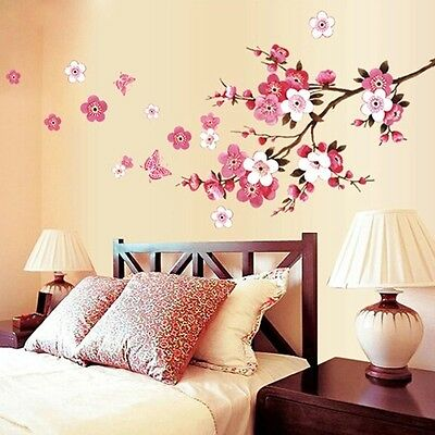 Flowers Removable Wall Stickers Decal Art Vinyl Quotes Mural Room Home Decor DIY