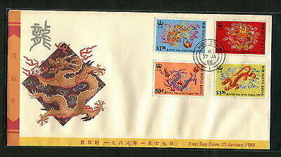 Hong Kong FDC 1988 Year of Dragon First day cover