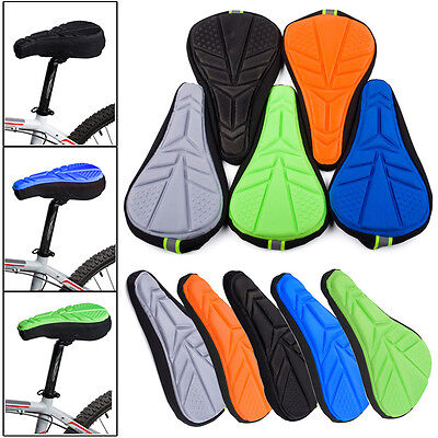 NEW Bicycle Saddle Case Cushion Seat Cover Cycling Bike Silicone Gel Soft Pad