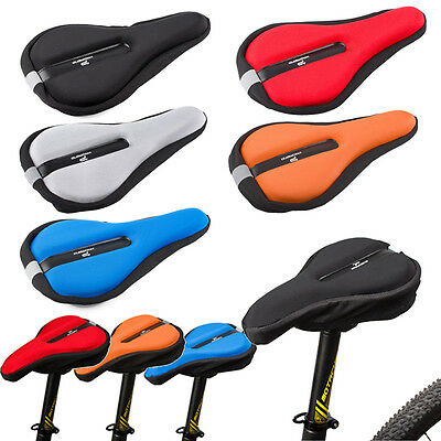 Comfort Soft Pad Silicone Cycling Bicycle Bike Saddle Cushion Seat Case Cover