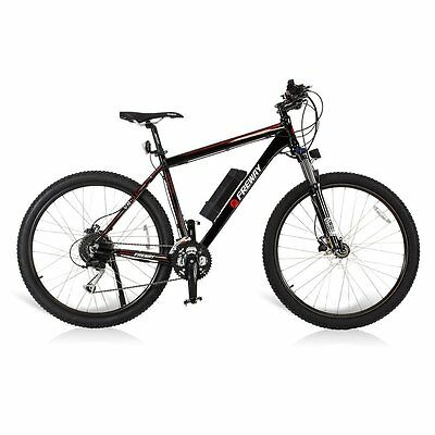 Black 27 Speeds Pedal - Assist Smart Li-ion Battery Electric Motor Mountain Bike