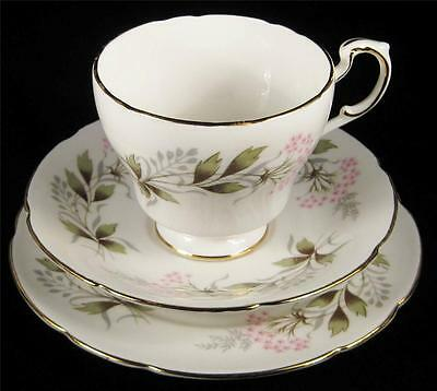 Paragon Tiny Pink Flowers Cup/Saucer/Plate Trio 1957-63