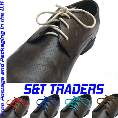 2mm wide WAXED  COTTON LACES FOR LEATHER SHOES / BROGUES  sizes 45cm to 130cm