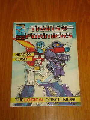 Transformers British Weekly #40 Marvel Uk Comic 1985