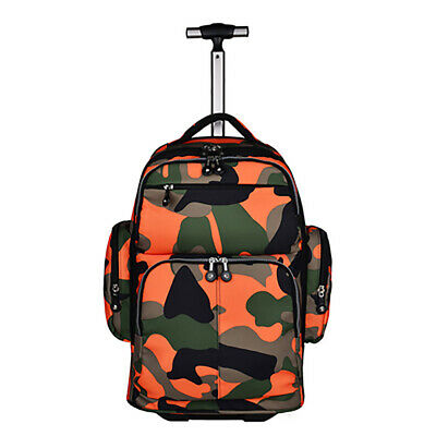 Durable Unisex Wheeled Luggage Backpack Carry On Travel Laptop Bag LargeCapacity