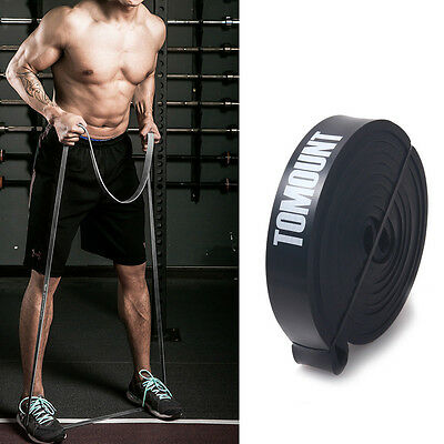 Resistance Tube Home Gym Fitness Exercise Workout Heavy Yoga Training Band Black