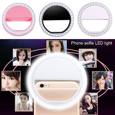 Portable Makeup White Selfie Fill Light LED Flash Ring Lighting For Mobile Phone