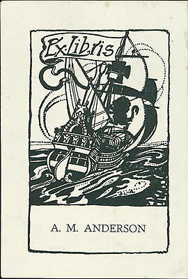 'A M Anderson' Ship    Bookplate      (JC.75)