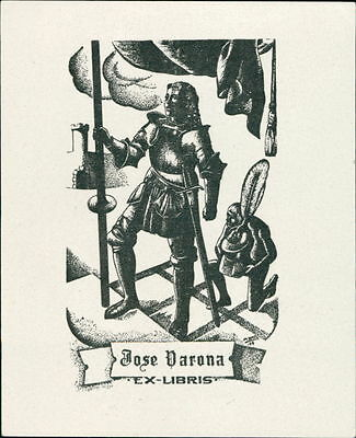 Spain. Burgos. 'Jose Varona Santillán' Bookplate      (JC.84)