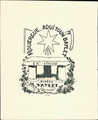 France. Rouergue. 'Joseph Vaylet'  Bookplate      (JC.85)
