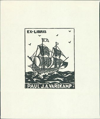 Netherlands.  'Paul J. A. Varekamp'  Ship  Bookplate      (JC.90)
