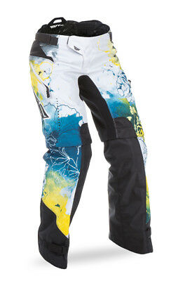 Fly Racing Teal/Yellow/White Womens & Youth Kinetic OTB Dirt Bike Pants MX ATV