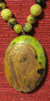 Chesapeake Bay Retriever hand painted pendant/bead/necklace