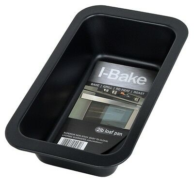 I-Bake Loaf Tin 2lb Non Stick Grill Roast Reheat Bakeware Cookware