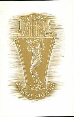 'Robert Stevens'  Bookplate    (JC.111)