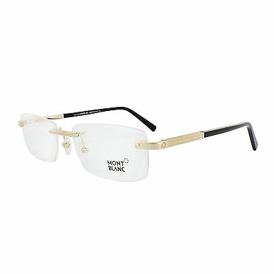 Mont Blanc Glasses Frames 0545 030 Shiny Gold