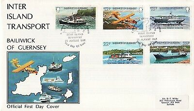 Fdc Guernesey 1981 Moyens De Transports Inter-Iles
