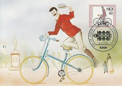 Fdc Cp Allemagne 1985 Cyclisme - Bicyclette Basse