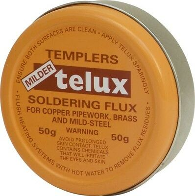 Telux Flux For Copper Pipework Brass and Other Metals 50g