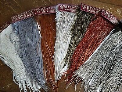 Whiting Farms Eurohackle Full Rooster Saddles Fly Tying Feathers
