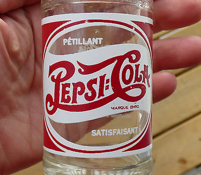 French 1949 Canadian short lived 8oz Double Dot PEPSI-COLA bottle FREE SHIPPING!