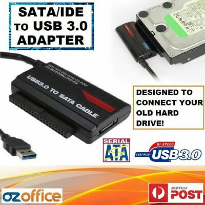 """USB 3.0 USB 2.0 to SATA IDE 2.5"""" 3.5"""" HDD Adapter - Connect Your Old Hard Drive!"""