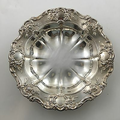 "Vintage Towle Old Master 11"" Round Vegetable Bowl Plate Silverplate Silver 4068"
