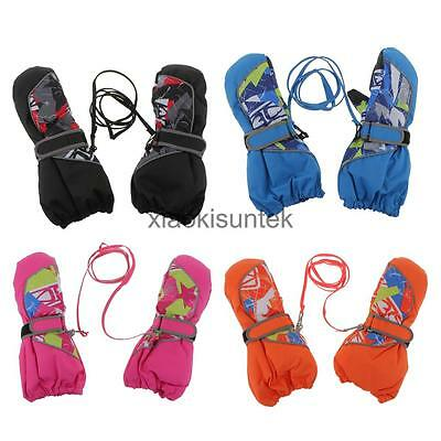 Children Winter Snow Ski Skiing Gloves Warm Waterproof Windproof Mitt Mittens