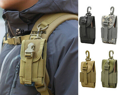 "Tactical 600D Molle 4.5"" Cell Phone Pouch 12GA Shotgun Bag For Iphone 6 6S/Plus"