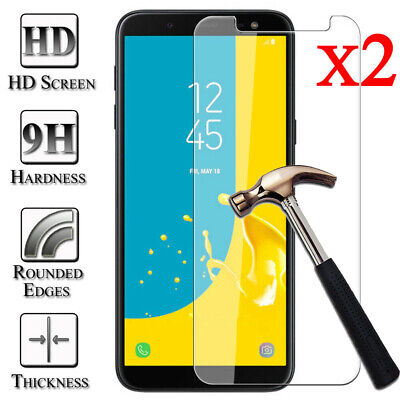 2X Tempered Glass 9H Film Screen Protector Cover For Samsung Galaxy J3 J5 J7 Pro