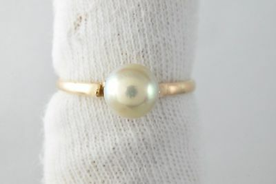 VTG Amazing 7.0 mm Pearl Deep Luster Solitaire in 18k Solid Yellow Gold