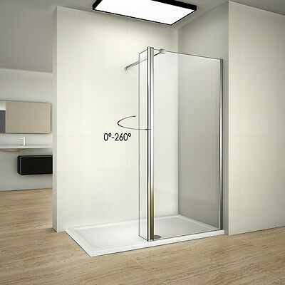 Wet Room Walk In Shower Screen Enclosure Stone Tray Flipper Glass Panel Cubicle
