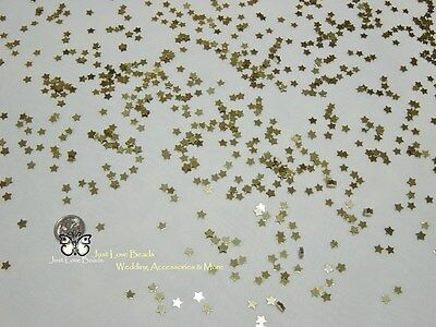 Wedding Table Scatters  Foil Confetti Stars - 5mm Gold