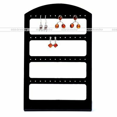 Earrings Ear Studs Display Rack Stand Jewelry Storage Organizer Holder 48 Holes