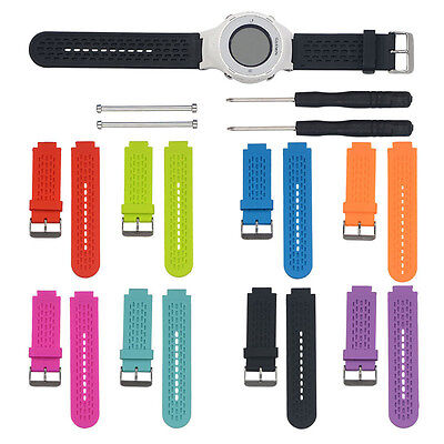 Silicone Watch Band Wrist Strap +Tools+Pins for Garmin VivoActive/Approach S2 S4