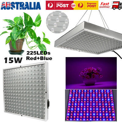 Hydroponics Grow Light Kit LED 225 RED & BLUE Full Spectrum Lamp Panel Plant New