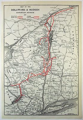Original 1928 Dated Map of the Delaware & Hudson Railroad