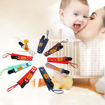 Baby Infant Dummy Pacifier Soother Nipple Ribbon Leash Strap Chain Clip Holder