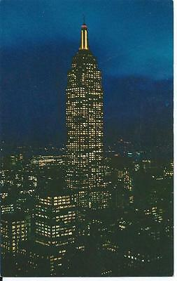 Postcard - Empire State Building at Night,  - Unposted 1960s