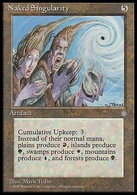 Naked Singularity - Paradosso Energetico carte Magic rare Ice Age ENGLISH CARD