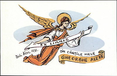 'Gheorghe Alexe'  1981 Angel Bookplate (JC.159)