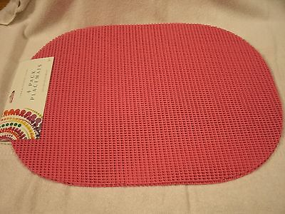 Set Of 4 13x18 Hot Pink Poly Placemats