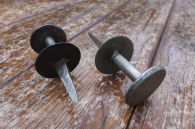 Vintage / antique hand made by blacksmith 2x knobs, perfect for project, farm.